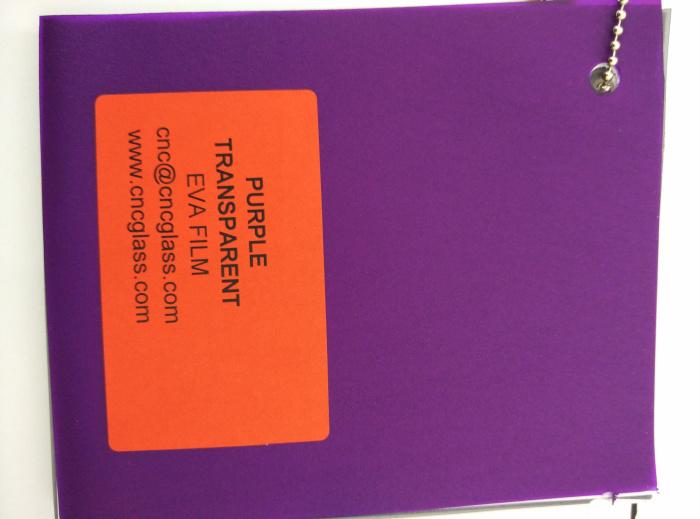 Purple Transparent Ethylene Vinyl Acetate Copolymer EVA interlayer film for laminated glass safety glazing (62)