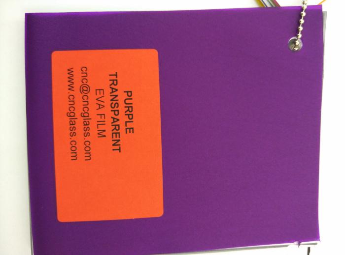Purple Transparent Ethylene Vinyl Acetate Copolymer EVA interlayer film for laminated glass safety glazing (63)