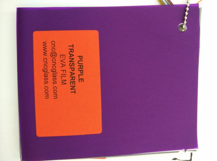Purple Transparent Ethylene Vinyl Acetate Copolymer EVA interlayer film for laminated glass safety glazing (64)