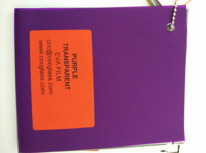 Purple Transparent Ethylene Vinyl Acetate Copolymer EVA interlayer film for laminated glass safety glazing (65)