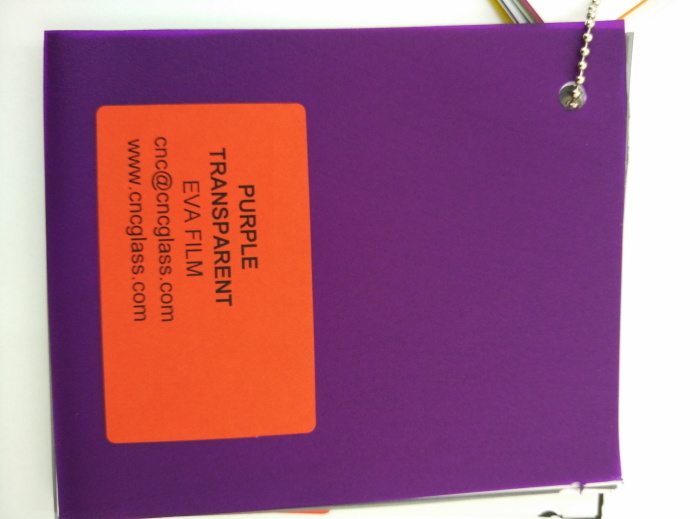 Purple Transparent Ethylene Vinyl Acetate Copolymer EVA interlayer film for laminated glass safety glazing (66)
