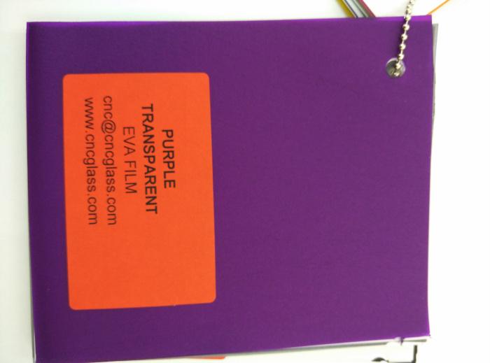 Purple Transparent Ethylene Vinyl Acetate Copolymer EVA interlayer film for laminated glass safety glazing (67)