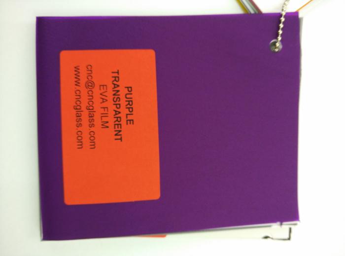 Purple Transparent Ethylene Vinyl Acetate Copolymer EVA interlayer film for laminated glass safety glazing (68)