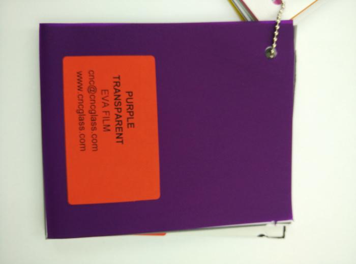 Purple Transparent Ethylene Vinyl Acetate Copolymer EVA interlayer film for laminated glass safety glazing (69)