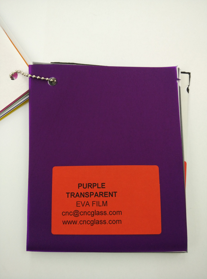 Purple Transparent Ethylene Vinyl Acetate Copolymer EVA interlayer film for laminated glass safety glazing (7)