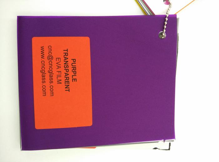 Purple Transparent Ethylene Vinyl Acetate Copolymer EVA interlayer film for laminated glass safety glazing (71)
