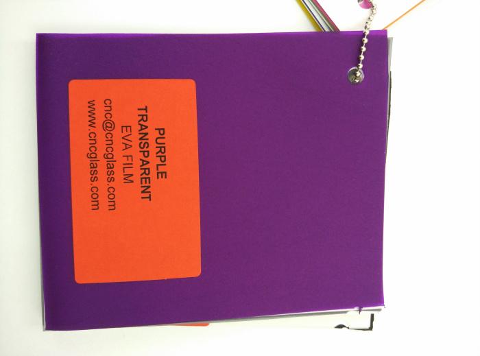 Purple Transparent Ethylene Vinyl Acetate Copolymer EVA interlayer film for laminated glass safety glazing (72)