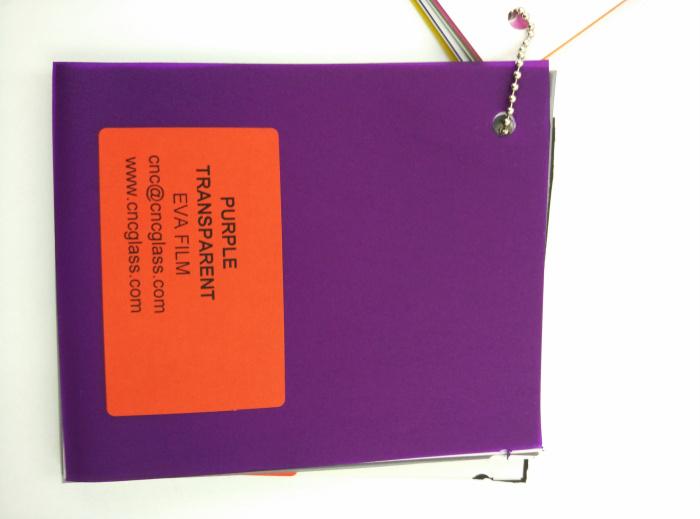 Purple Transparent Ethylene Vinyl Acetate Copolymer EVA interlayer film for laminated glass safety glazing (73)
