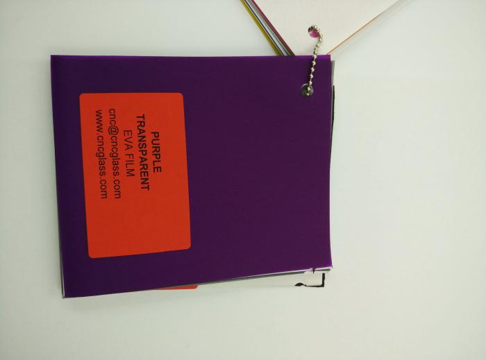 Purple Transparent Ethylene Vinyl Acetate Copolymer EVA interlayer film for laminated glass safety glazing (75)