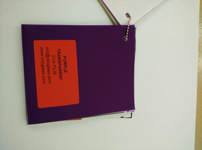 Purple Transparent Ethylene Vinyl Acetate Copolymer EVA interlayer film for laminated glass safety glazing (76)