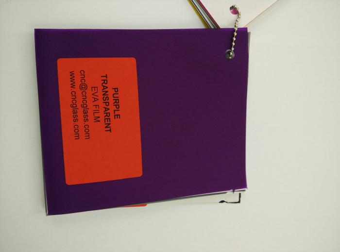 Purple Transparent Ethylene Vinyl Acetate Copolymer EVA interlayer film for laminated glass safety glazing (78)