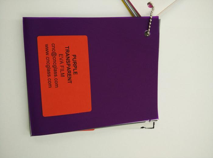 Purple Transparent Ethylene Vinyl Acetate Copolymer EVA interlayer film for laminated glass safety glazing (79)