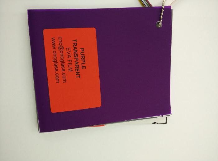 Purple Transparent Ethylene Vinyl Acetate Copolymer EVA interlayer film for laminated glass safety glazing (81)