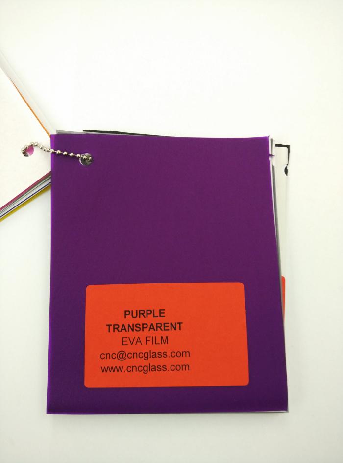 Purple Transparent Ethylene Vinyl Acetate Copolymer EVA interlayer film for laminated glass safety glazing (9)