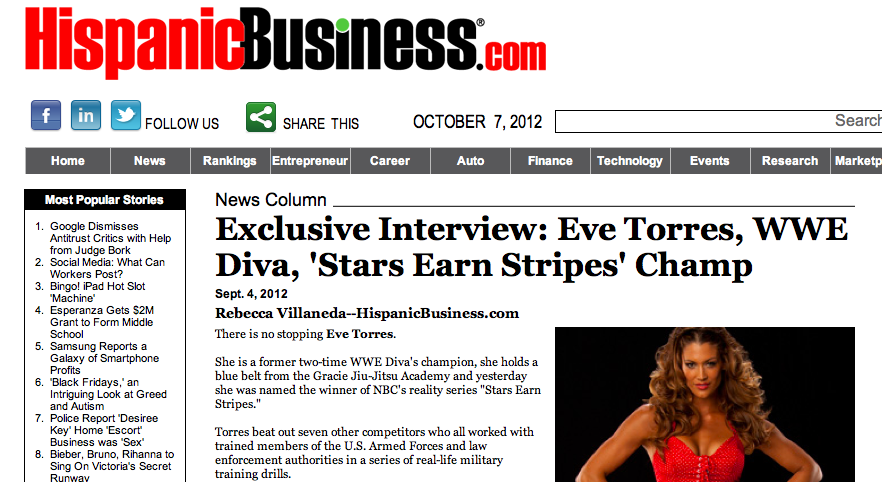 Hispanic Business Interview