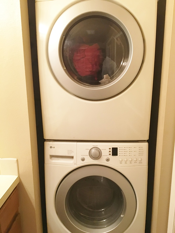 Stack washer/dryer in condo