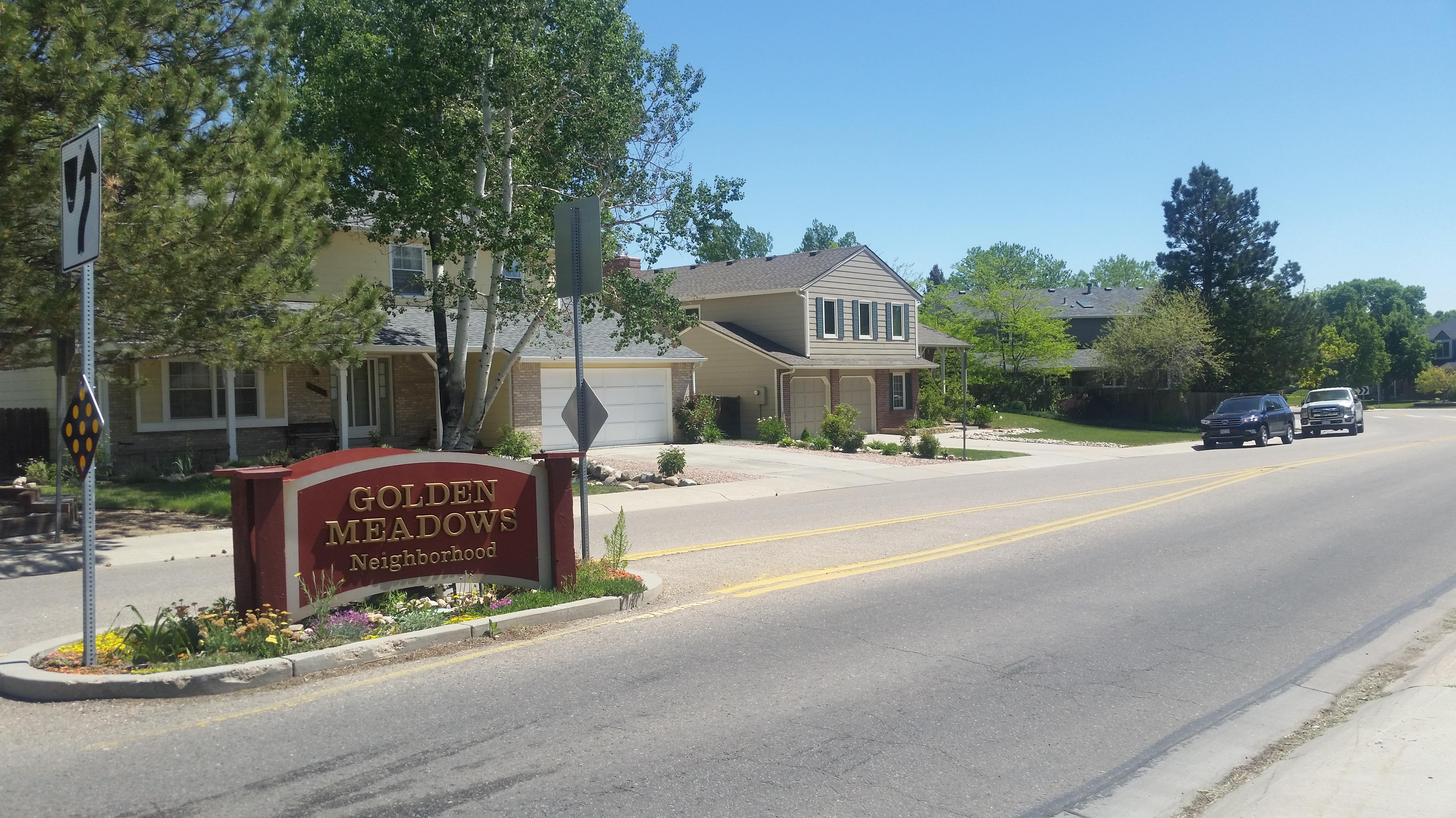 Golden Meadows sign