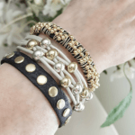 Layered Bracelets Gold Beads Mix and Match. Just a sample of what you can choose from.