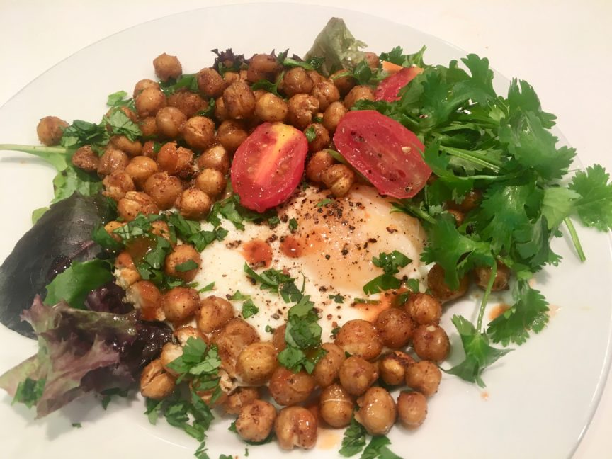 SHEETPAN CHICKPEA AND EGG MEDLEY
