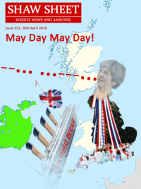 Cover Page Issue 151 MayDay May Day Titanic sinks in Irish Channel Maypole over England Scotland drifts off