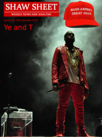 Cover page Issue 175 'Ye and T' - Kanwe West on stage at the West performing at Lollapalooza Chile in 2011