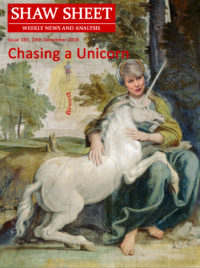 Issue 183 Cover Page - Chasing a Unicorn