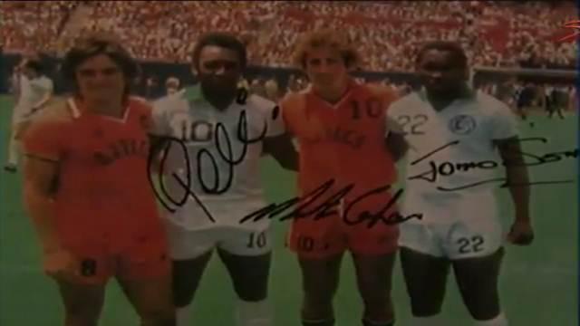 "Photo of ""Playing alongside Pele was a dream come true"", says Jomo Sono"