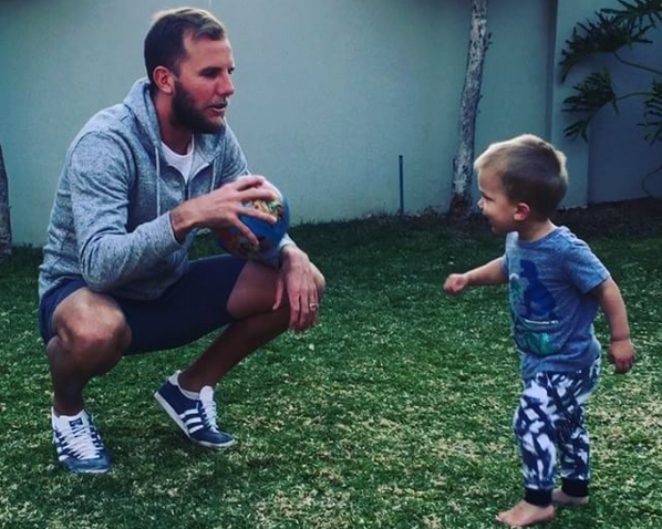 Watch Jamie Brockie Teaching His Son How To Kick A Volley