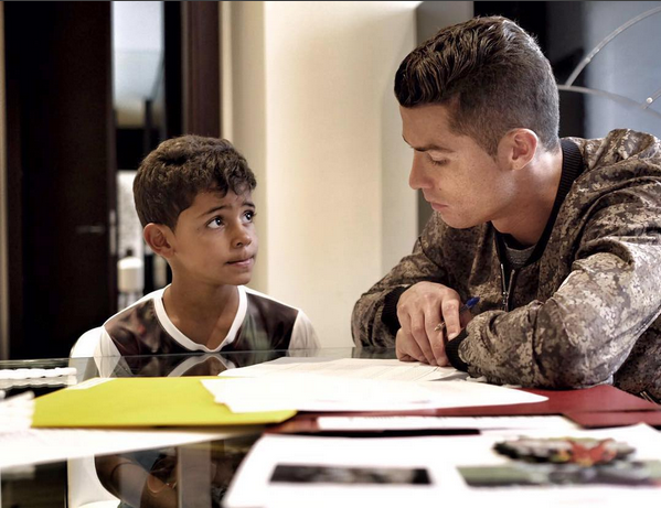 Photo of Checkout Cristiano Ronaldo Helps His Son Do His Homework