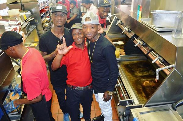 Watch Khama Billiat and Teko Modise Making Burgers At McDonalds