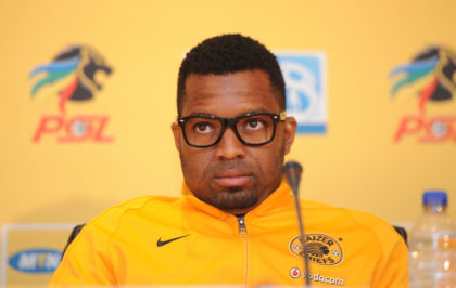 Itumeleng Khune of Kaizer Chiefs during the MTN8 Semi Final 2nd Leg Press Conference  on 27 August 2015 at PSL Offices Pic Sydney Mahlangu/ BackpagePix