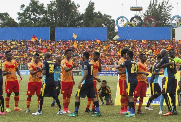 Photo of Downs play to packed crowd in Ethiopia.