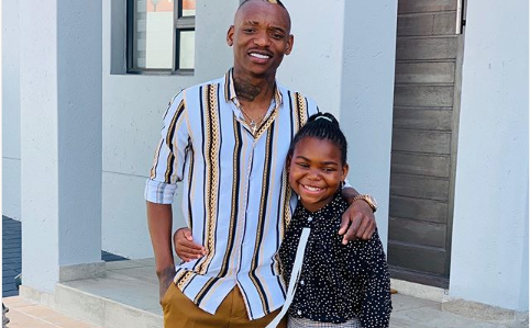 LOL! Watch Karma Billiat Shows No Mercy Playing Soccer With His Daughter