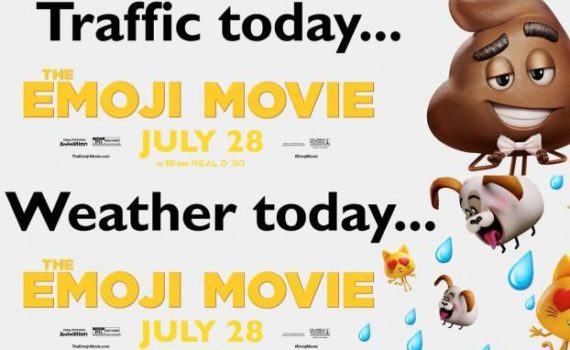 Sony Emoji Movie Billboard