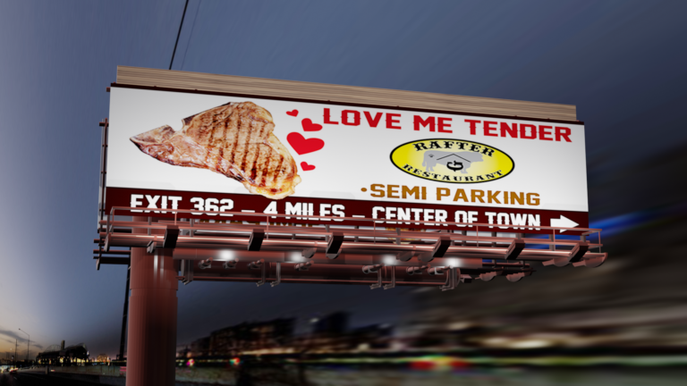 love me tender billboard