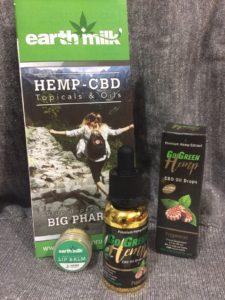 NW Hemp Products, Go Green Premium Hemp Extract CBD Oil Drops & Earth Milk Lip Balm Review