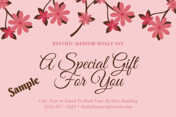 Psychic Reading Gift Certificate Traverse City Michigan