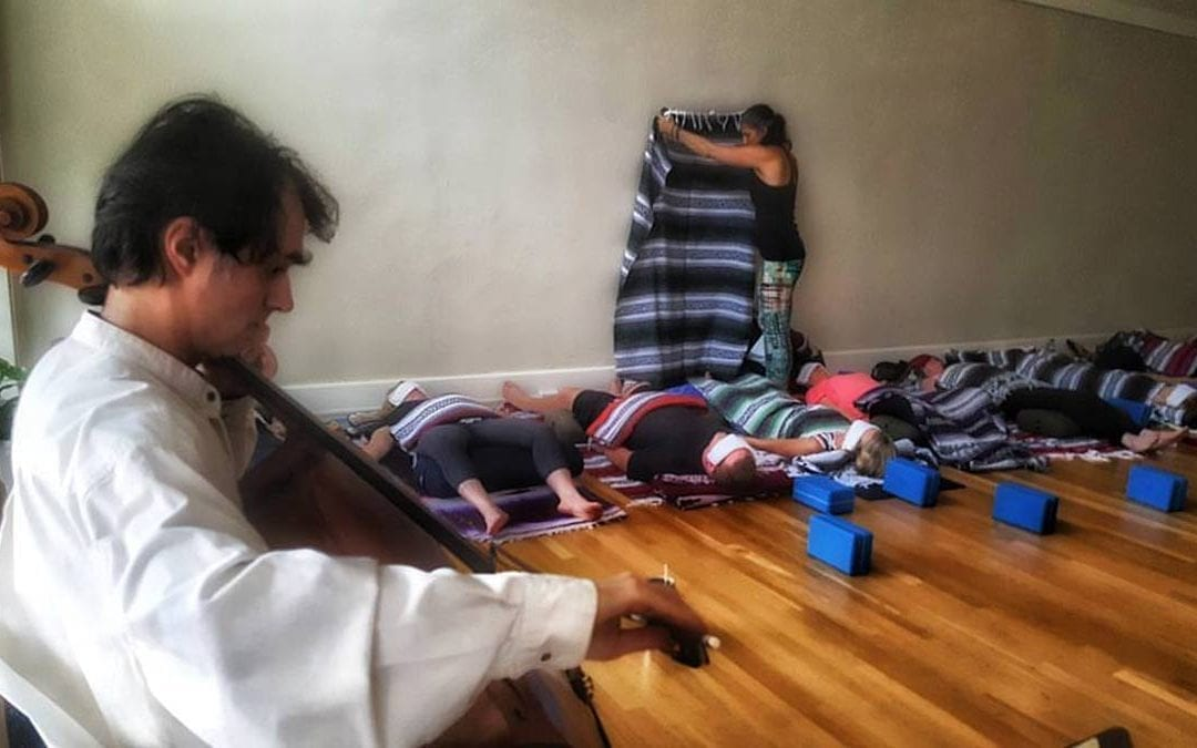 TODAY IS THE DAY! – Restorative Yoga with Special Guest Teacher Melissa Smith and Violinist Brenda Josephsen