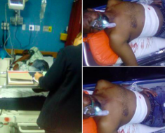 Pics! SA Man gets stabbed after finding his wife in bed with another man!