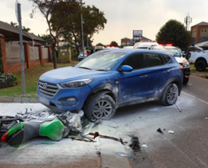 Biker injured in Pretoria crash
