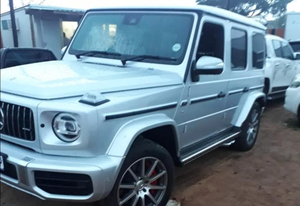 Stolen Mercedes G Wagon Found hidden in the bush close to Mozambique border