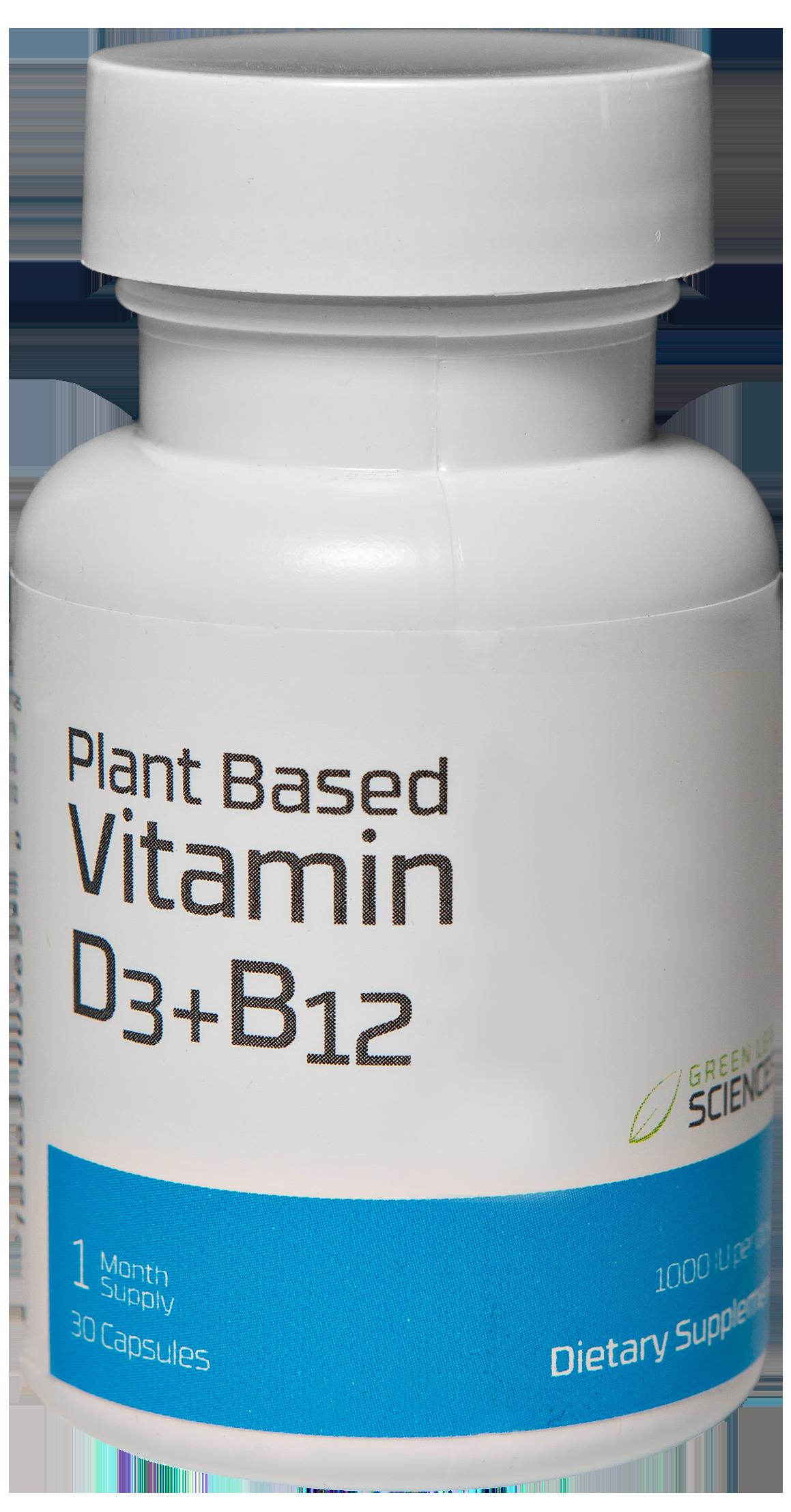 Vitamin D3 plus B12 bottle