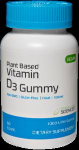 Vitamin D3 Gummy bottle