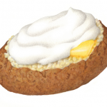 Baked potato with butter and sour cream