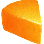 Cheddar cheese triangle wedge chunk