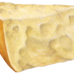 Parmesan cheese triangular wedge chunk