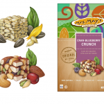 Food product illustrations used on packaging for Mrs. May's Crunch products by Dole.