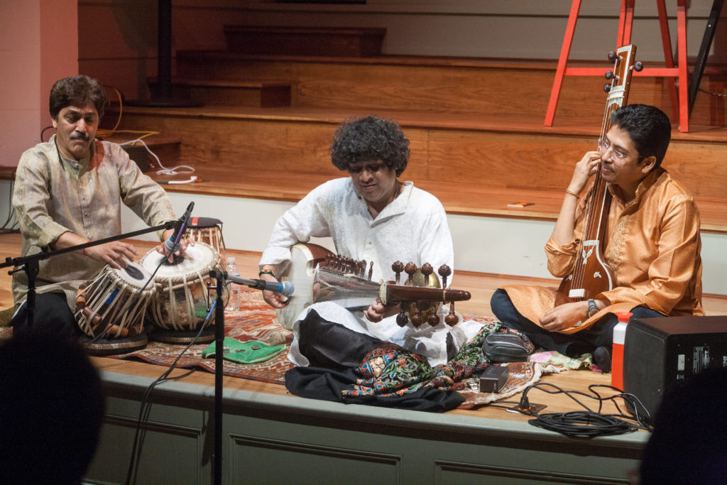 Ranajit Sengupta on Sarod and Shantilal Shah on Tabla during Maihar Melodies