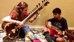 Dr. Amie Maciszewsji teaching Indian Classical Music