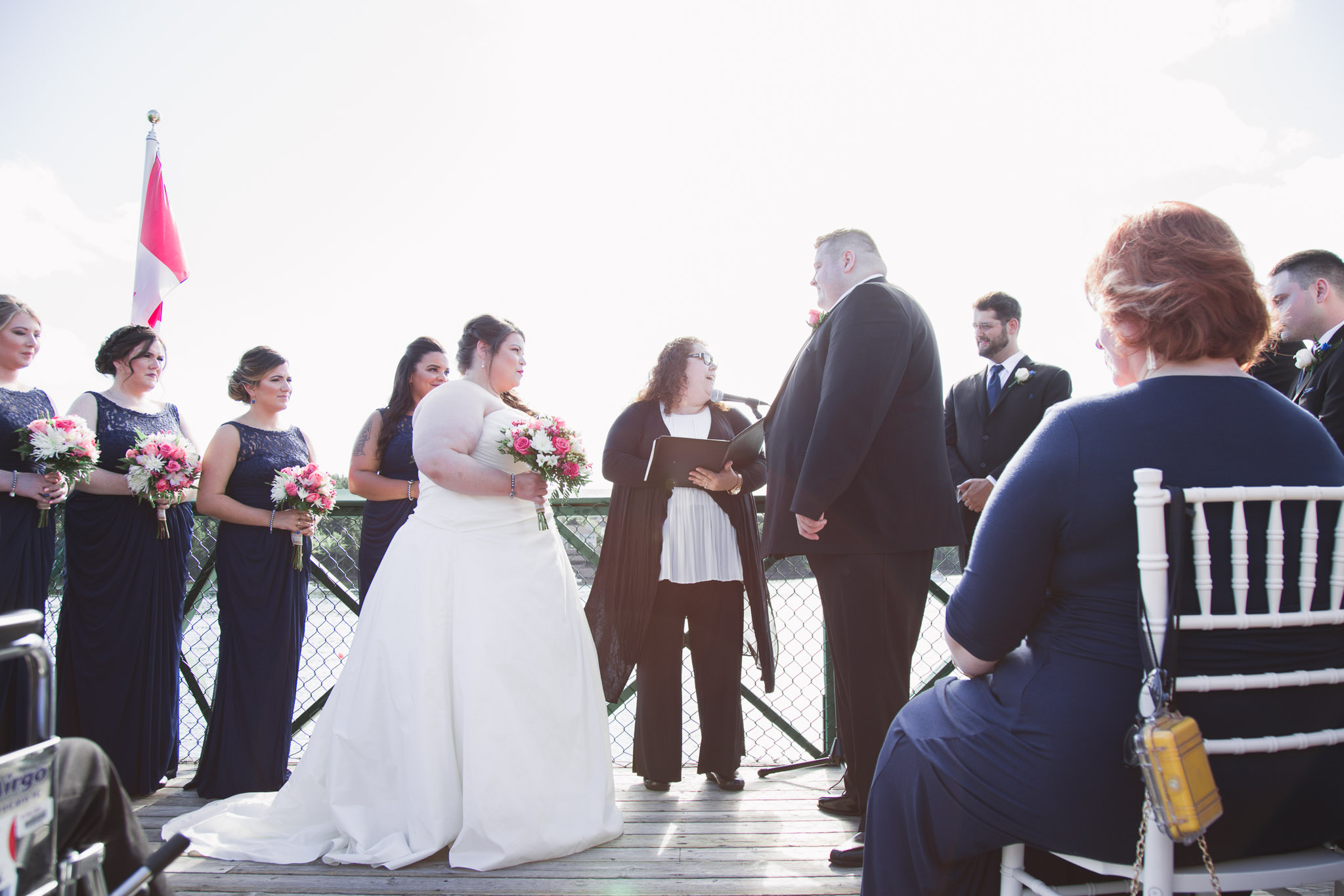 Image of wedding ceremony in Saint Mary's boat club